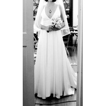 Vestido Noiva Branco C/ Barra Interna Rosa. Sta Ephigênia