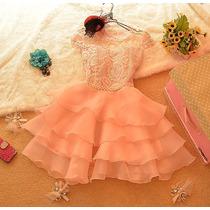 Vestido De Festa Rosa/vestido Com Pérola/casamento/15 Anos