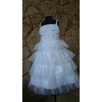 Vestido Infantil Batizado / Casamento / Festa Bordado