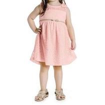 Vestido Infantil Feminino Cinto/aplique Pérola - Angerô M...