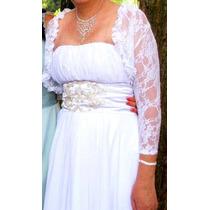 Vestido De Noiva Semi-novo Estilo Grego Com Bolero De Brinde