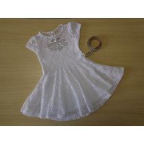 Vestido Lilica Ripilica Em Renda E Paetes Com Cinto Branco