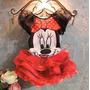 Vestido Conjunto Minnie Infantil Tutu - Frete Grátis