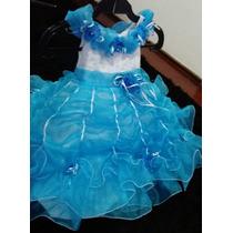 Vestido De Festa Luxo Daminha Honra Infantil A Bela E A Fera