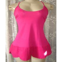 Vestido Ou Bata Feminina Rosa Tam.g C/strech S3