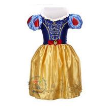 Vestido Branca De Neve Infantil Luxo Pronta Entrega