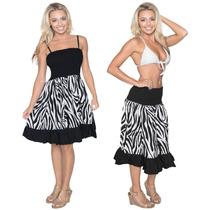 La Leela Likre Zebra Stretchy Praia De Tubo Curto Vestido Pr