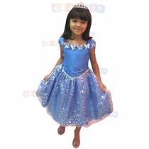 Vestido Da Cinderela Fantasia Modelo Luxo Princesa