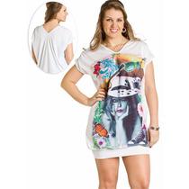 Vestido Plus Size Estampado Festa Balada - Barato!