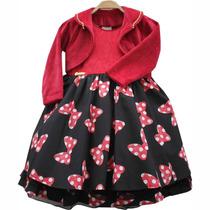 1229 - Vestido De Festa Tema Disney Minnie