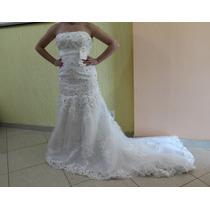 Incrível Vestido De Noiva Importado - Pronta Entrega - Tam.m