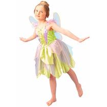 Fantasia Fada Sininho Tinkerbell Infantil Luxo Disney