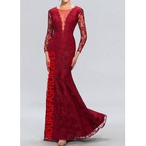 Maravilhoso Vestido De Festa, Casamento,em Renda Com Tule