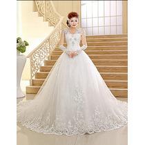 Vestido De Noiva Importado Com Véu Incluso Novo