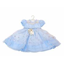 Vestido Infantil Azul Criança Filme Frozen Elsa Aniversário