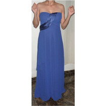 Vestido Longo Festa Azul Royal Madrinhas - Pronta Entrega