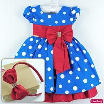 Vestido Festa Infantil Galinha Pintadinha Luxo Com Tiara