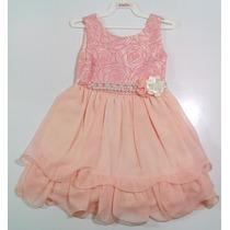 Vestido Infantil Rosa C Babado Com Bolero Gratis Tamanho 3