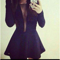 Maravilhoso Vestido Evase Com Tule