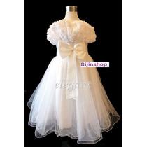 Vestido Infantil Festa/dama/florista/batizado Branco
