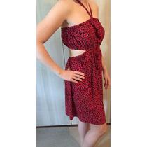 Vestido De Malha Fria De Oncinha Vermelha - My Philosophy