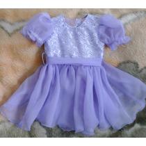 Vestido Infantil Festa Luxo - Tamanho Pode Ser Por Encomenda