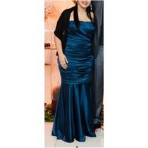 Novissimo Vestido Arthur Caliman Azul Navy Usado 1 Vez!