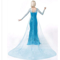 Vestido Fantasia Princesa Elsa Frozen Adulto Pronta Entrega