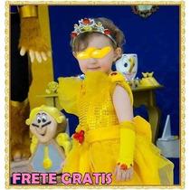 Vestido Princesa Bela Completo - Fantasia Princesa Bela