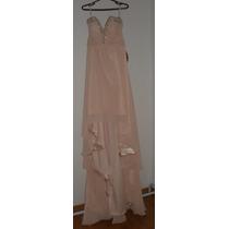 Vestido Festa Casamento Formatura Madrinha Pérola/rosa 44