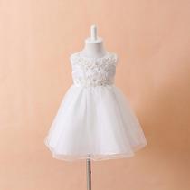 Vestido Infantil Daminha De Casamento Vestido Batismo Bebes
