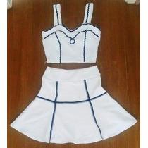 Conjunto Cropped Vestido Bojo Saia Curto Roupas Femininas