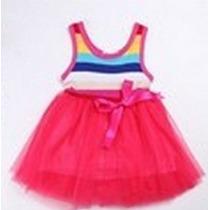 Vestido Malha Saia Tutu Bailarina Bbfashion Frete Gratis B R