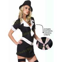 Fantasia Gangster Feminina Adulto Mafia Vestido De Mafiosa