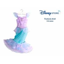 Fantasia Princesa Ariel Original Disney Store Pronta Entrega