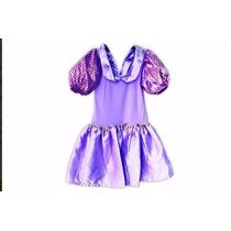 Vestido Fantasia Princesa Sofia Pronta Entrega + Brinde