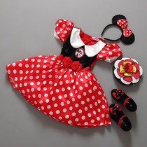 Fantasia Minnie Arco Vestido Infantil Festa Menina Roupa