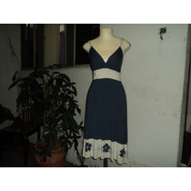 Lindo Vestido Verão Viscose Costumizado Pedraria M Seminovo