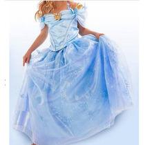 Vestido Fantasia De Luxo Cinderela Pronta Entrega