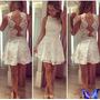 Lindo Vestido Branco,noiva,festa.com Cinto De Pérola!