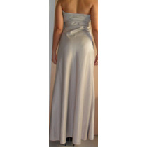 Cavendish: Vestido De Festa Longo Prata ¿ P