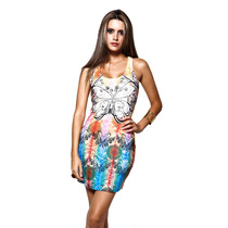 Roupas Femininas Vestido Curto Casual Festa Importado Rf1006