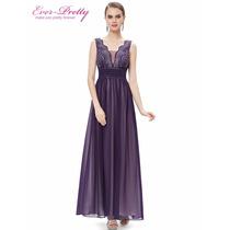 Vestido Ever-pretty Noite Luxo Importado Pronta Entrega