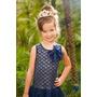 Vestido Infantil De Verão Estampado Com Tule E Lindo Laço