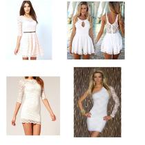 Vestidos De Renda Branco Reveillon Festa Casamento Formatura