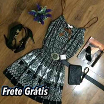 Kit 4 Vestidos Curto Viscose + 2 Macaquinhos Viscose