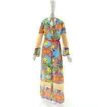 Vestido Evangélico Longo Floral (42 Ao 46) - Pura Flor