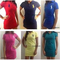Vestido Feminino Gola Polo P, M, G, Gg. Pronto Entrega