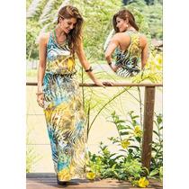 Vestido Longo Estampado Florido Casual Verão Promoção