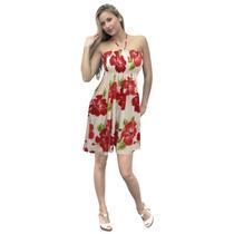 La Leela Rosemallow Flora Likre Tubo Curto Mulheres Vestido